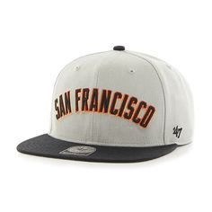 San Francisco Giants Script Side Two Tone Captain Gray 47 Brand Adjustable Hat