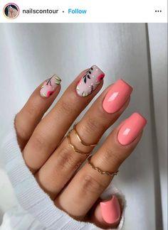 Cute Gel Nails, Neon Nails, Fancy Nails, Cute Acrylic Nails, Ring Finger Nails, Cherry Nails, Short Square Nails, Nails Only, Short Nail Designs