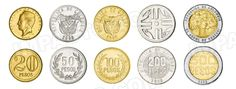 Colombia,  set of 5 uncirculated coins