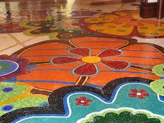 Thought I love Floral Mosaic Floor – LasVegas, I think the colors and shapes are a little to whimsical for my dream bathroom