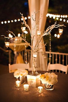 Garden Wedding Venue | Elegant Gray and Yellow Reception - Photo: Phindy Studios