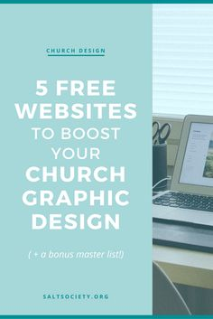 5 Free websites that will boost your church graphic design | If you're a beginner designer there are plenty of free solutions that'll help you with any of your church graphic design tasks! Here's a list of my favourites!