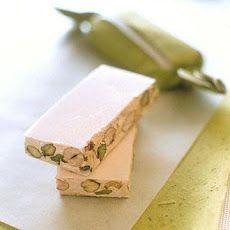 Pistachio-Honey Torrone  http://www.yummly.com/recipe/Pistachio_Honey-Torrone-Martha-Stewart