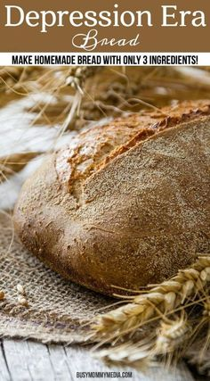 Depression Era Bread – Make Homemade Bread with Only 3 Ingredients! You can make 7 loaves of bread for under $3!! What a great way to save money on your grocery budget!