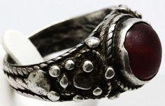 Historismus Antike Silber Ring Granat Edelstein von Twenzocom, €219.00