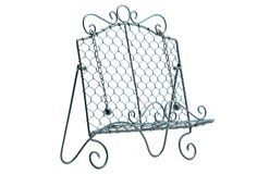 Wire Cookbook Stand- want!!  Perfect color for my kitchen!
