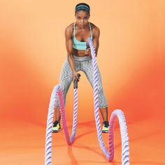 Crush calories and blast fat with this incredibly versatile workout tool Fit Board Workouts, Running Workouts, Fun Workouts, Yoga Fitness, Fitness Tips, Fitness Gear, Battle Rope Workout, Rope Exercises, Battle Ropes