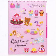 Rilakkuma sweets A4 plastic file folder 3-pocket