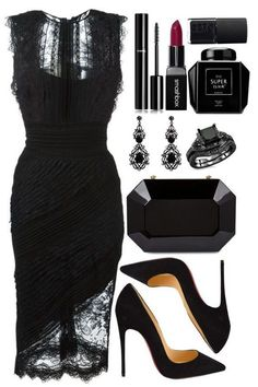 Black lace dress for an evening date outfit., Black lace gown for a night date outfit. Black lace gown for a night date outfit. Black lace gown for a night date outfit. Date Outfits, Classy Outfits, Chic Outfits, Dress Outfits, Dress Up, Fashion Outfits, Womens Fashion, Dress Fashion, Fashion Ideas