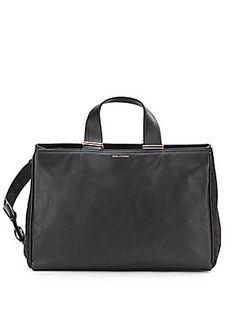 PLV Inez Leather Cary All Bag/Black