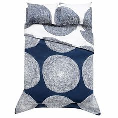 Pippurikera navy king duvet by Marimekko Queen Comforter Sets, King Duvet, Marimekko Bedding, Navy Bedding, Luxury Bedding Sets, Bed Styling, Fabric Decor, Bedding Collections, Pillow Shams