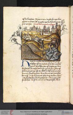 Cod. Pal. germ. 84: Antonius von Pforr: Buch der Beispiele ; Passionsgebet (Schwaben [Author was in service to Württemburg], um 1475/1482), Fol 6v