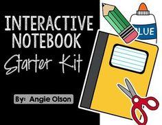 Interactive Notebook Starter Kit FREEBIE!