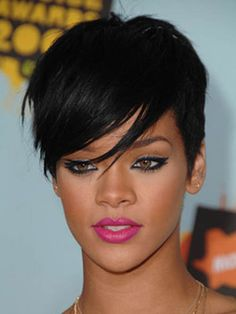 Lace Front Short Straight Jet Black Synthetic Celebrity Hairstyle Wigs