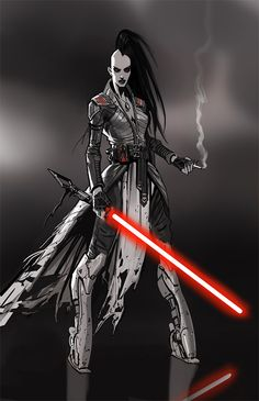smoking sith by Daryl Mandryk on ArtStation. Star Wars Fan Art, Star Wars Mädchen, Star Wars The Old, Star Wars Concept Art, Star Wars Girls, Star Wars Characters Pictures, Star Wars Images, Female Characters, Female Sith