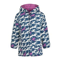 Buy Hatley Girl's Reversible Horse Puffer Coat, Navy/Pink from our Girlswear Offers range at John Lewis & Partners. Navy Pink, Comfy, Horses, Cotton, Jackets, Stuff To Buy, Fashion, Down Jackets, Moda