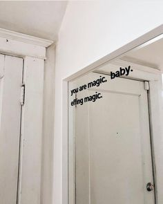 Stick it anywhere from your mirror, your car window, to your computer to remind yourself that you are magic! decal Comes with easy instructions. Aesthetic Room Decor, Quote Aesthetic, Aesthetic Pictures, Aesthetic Vintage, Schönheitssalon Design, Interior Design, Design Hotel, Modern Interior, House Design