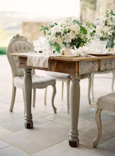 . Comedor Shabby Chic, Shabby Chic Chairs, Shabby Chic Homes, Shabby Chic Furniture, Casas Shabby Chic, Estilo Shabby Chic, French Decor, French Country Decorating, Romantic Room