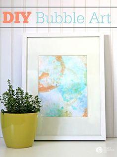 DIY Bubble Art Prints   DIY Wall Art   Creative wall art  See tutorial on TodaysCreativeLife.com