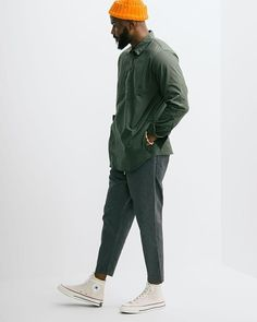 The Military Pullover Shirt from our friends at Nanamica. Come check out the rest of our selections now in store online. Mode Streetwear, Streetwear Fashion, Men Looks, Stylish Men, Men Casual, Pullover Shirt, Look Man, Herren Outfit, Men Street