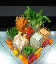 Crudite is a staple on the party scene because it is both easy to prepare and tasty to eat. Unfortunately, crudite is rarely inspiring to look at — especially those pre-made platters from the grocery store that so often get popped on the table without any effort to add a little pizzazz. If you love crudite but need help making the presentation more creative, then read on…