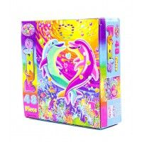 Lisa Frank puzzle featuring the Dancing Dolphins.