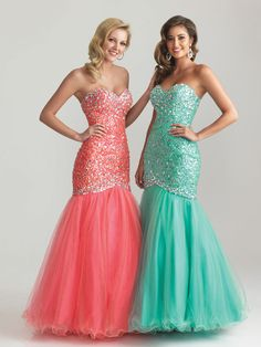 Night Moves coral or aqua mermaid #formalapproach