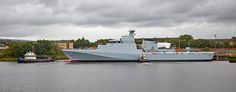 'HMS Forth' passing Braehead - 21 August 2016 Royal Navy, Ship, River, Future, Gallery, Building, Photography, Image, Future Tense