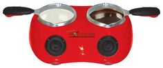 Total Chef - Deluxe Chocolatiere Electric Chocolate Melting Pot - Red