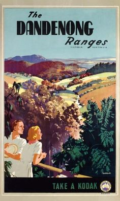 Dandenong Ranges by James Northfield - The Dandenong Ranges, Victoria, Australia. Published by Victorian Railways Posters as part of its campaign to encourage local tourism.