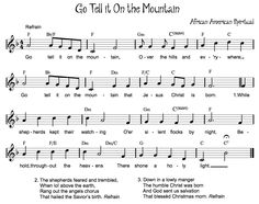 Beth's Music Notes: Go Tell it On the Mountain