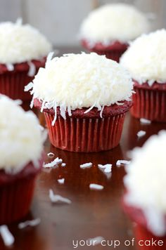 Coconut Red Velvet Cupcakes