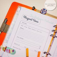 The Mintgreen Polkadot   Planner-Love: Printables for Organizing your Blogger- and Social Media Life   http://themintgreenpolkadot.com