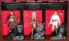 Hasbro Star Wars Black Series 6 Inch Wave 6 #19 Rebels: Kanan Jarrus #20 Rebels: Ahsoka Tano #21 Episode 4: Luke Skywalker