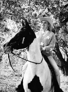 0 Carroll Baker on a horse