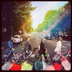 Beatles bike love #bici #bike | Shared from http://hikebike.net
