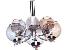 vintage globe chandelier - 1960s mid century black/silver/smoky grey atomic bubble chandelier/hanging light fixture by mkmack on Etsy https://www.etsy.com/ca/listing/485291202/vintage-globe-chandelier-1960s-mid
