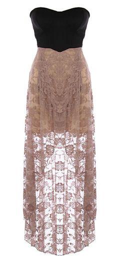 Chantilly lace maxi dress. love.