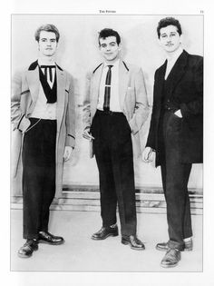 Edwardian Fashion dandy | The Teds, as they called themselves, wore long drape jackets, velvet ...