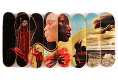 Artist Mati Klarwein was commissioned by Miles Davis to design the cover of his 1970 album, Bitches Brew. Over 40 years later, the work of art has been resurrected on a new series of skate decks by Western Edition.