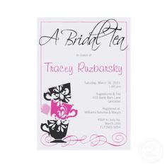 Bridal Shower Invitation - Tea party