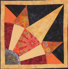 Rising Sun, block 3, from the Solomon's Puzzle Sampler Quilt