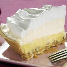 Triple-Layer Eggnog Pie  Or just put in regular pie crust
