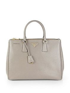 Prada Saffiano Lux Double-Zip Tote Bag- the bag Olivia Pope carries in Scandal!