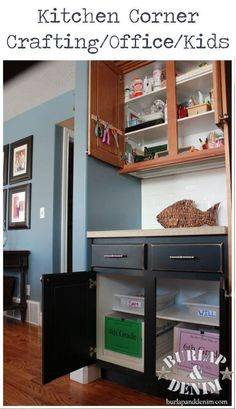 Organize Children't Papers, Crafting Supplies and Kitchen Office