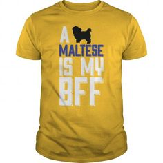 A MALTESE Is My BFF T Shirts, Hoodies. Get it here ==► https://www.sunfrog.com/Funny/A-MALTESE-Is-My-BFF-Yellow-Guys.html?41382