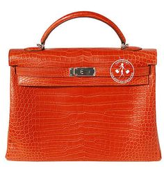 HERMES-MATTE-SANGUINE-POROSUS-CROCODILE-40CM-KELLY-BAG-PALLADIUM-9903