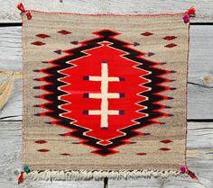 1890s CHURRO/GT NAVAJO RUG 19x20 Native American Indian blanket Ranchfolks WoW!