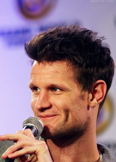 Dimples. You fabulous human.  Matt Smith/A Doctor a Day.