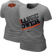 Nike Oklahoma State Cowboys Women's Orange Power My School Local T-Shirt - Ash
